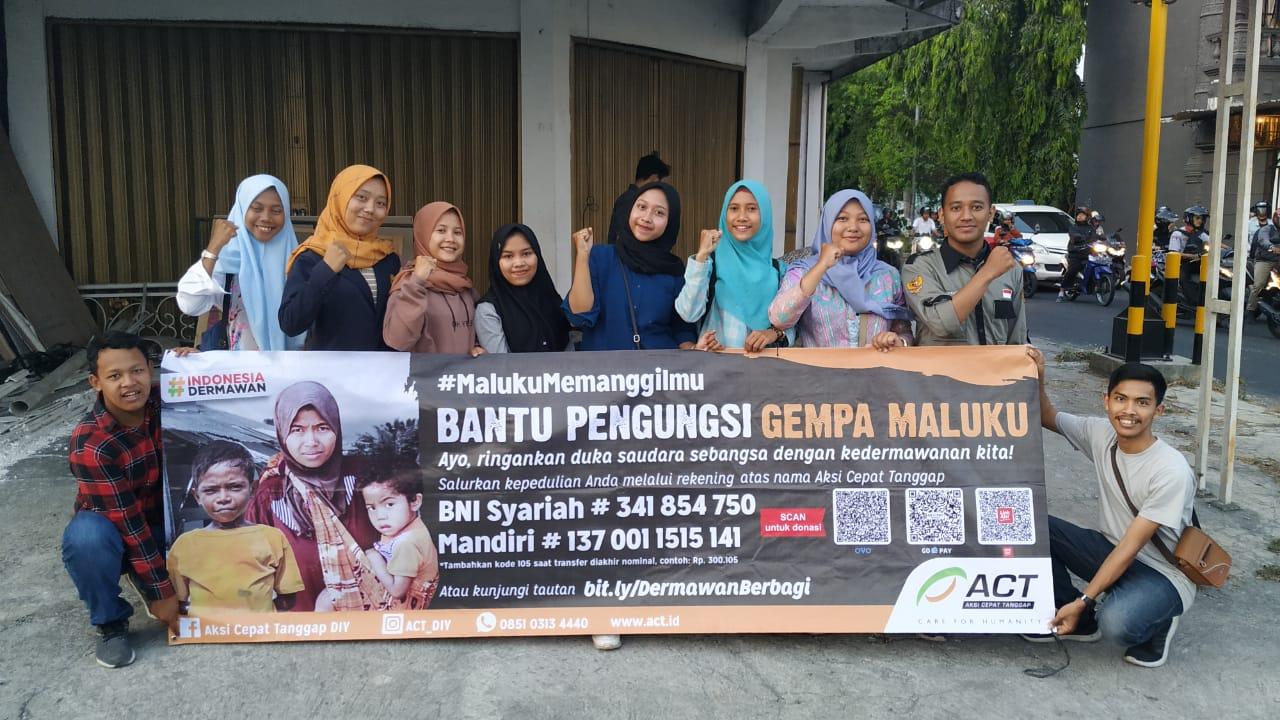 Aksi UPY Peduli Untuk Maluku
