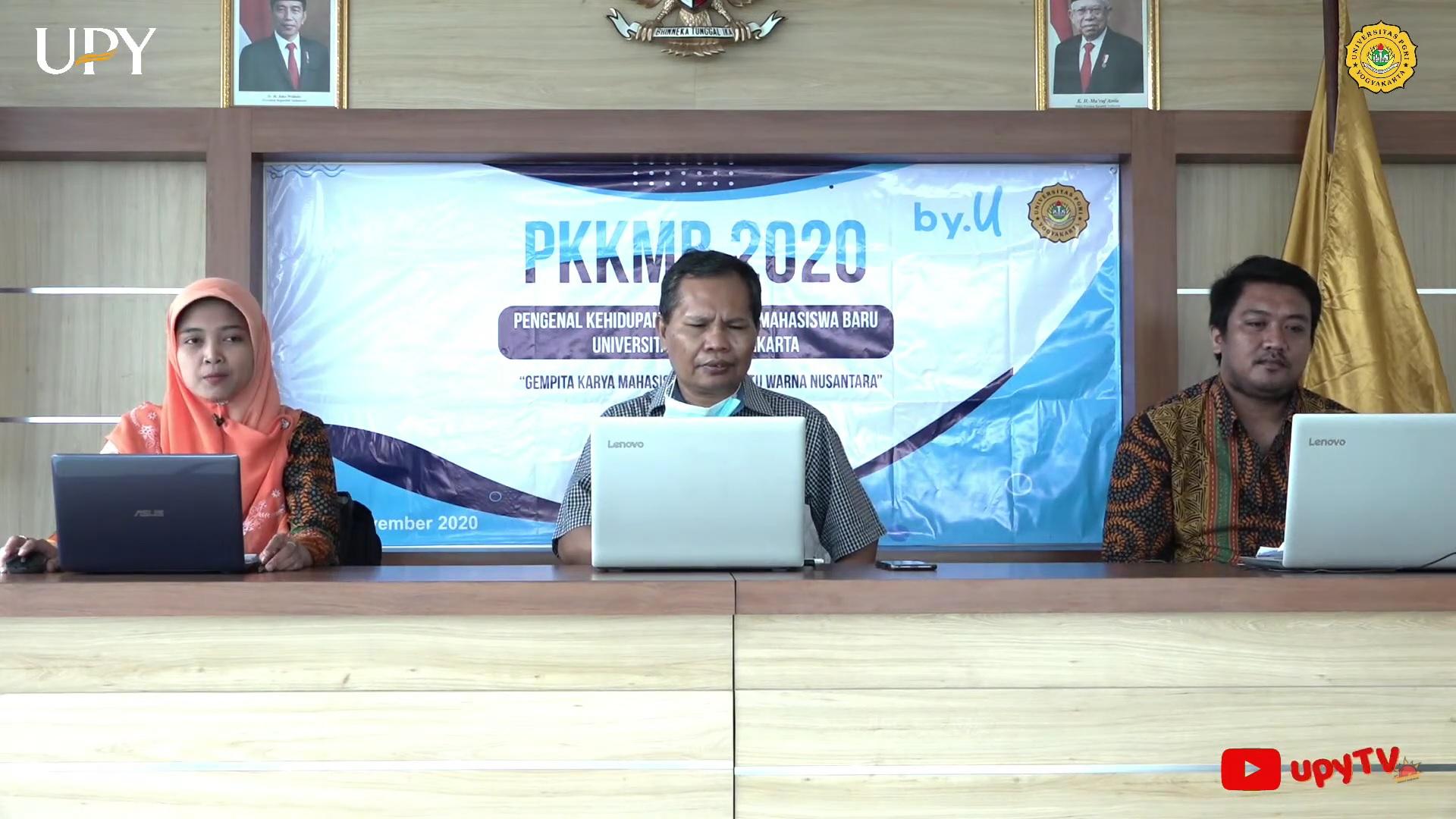 Sambut Mahasiswa Baru, UPY Gelar PKKMB Secara Daring