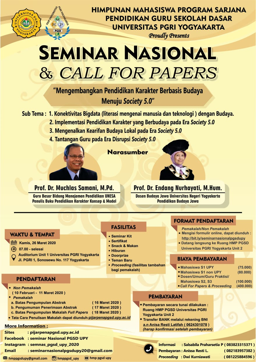 SEMINAR NASIONAL& CALL FOR PAPERS