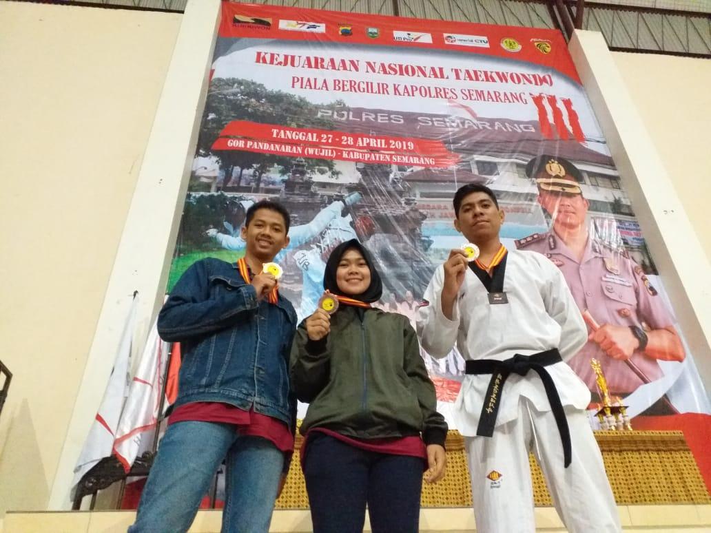 UPY Taekwondo Team Raih 3 Medali di Kejurnas Taekwondo Piala Bergilir Kapolres Semarang