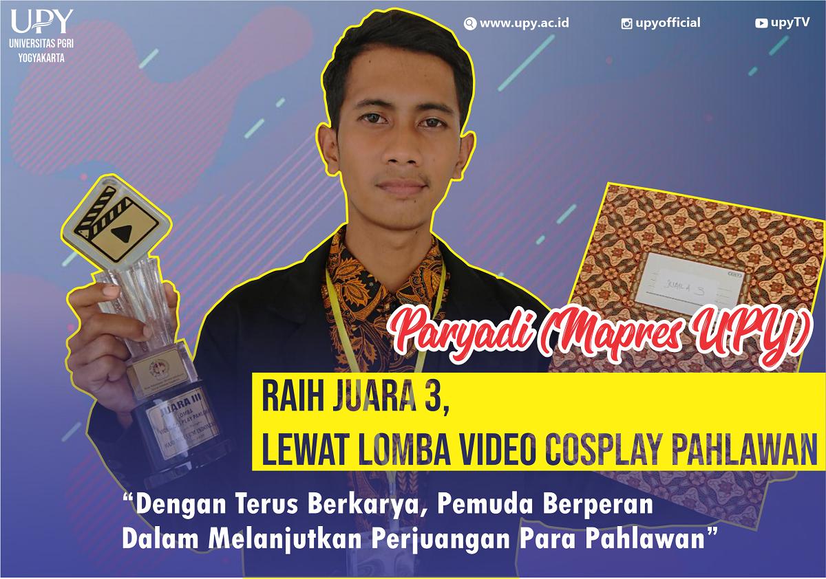Berkarya dan Berprestasi, Mapres UPY Raih Piala di Lomba Video Cosplay